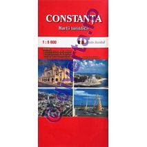 CONSTANTA, harta pliata turistica si rutiera, scara 1:5800, format 50x70 cm, editie 2013