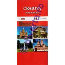 CRAIOVA, harta pliata turistica si rutiera, scara 1:9500, format 50x70 cm, editie 2013