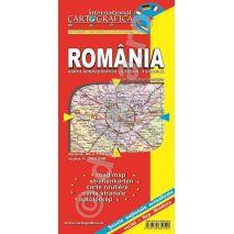 Romania, harta pliata administrativa, rutiera si turistica, scara 1:700000, format 89x120 cm, editie 2013-coperta1