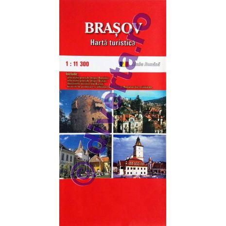 BRASOV, harta pliata turistica si rutiera, scara 1:11300, format 50x70 cm, editie 2013