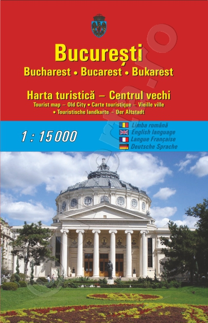 Bucuresti Harta Turistica Pliata 50x70cm Centrul Istoric