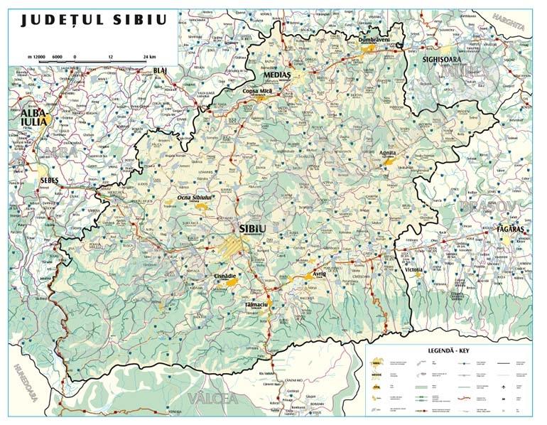 Sibiu Uat Delimitare Comune Orase Judete Judet Si Zone