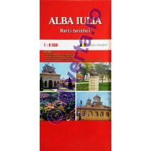 DIVERTA ALBA IULIA, harta pliata turistica si rutiera, scara 1:8500, format 50x70 cm