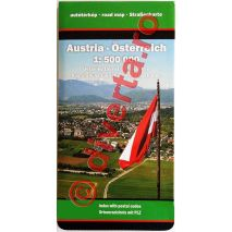AUSTRIA, harta pliata rutiera, administrativa si turistica, scara 1:500000, format 89x120 cm, editie 2013