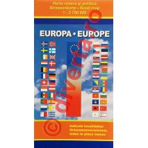 EUROPA, harta pliata rutiera si politica, scara 1:3750000, format 90x125 cm, editie 2013