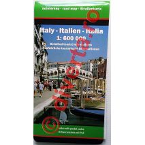 ITALIA, harta pliata rutiera, administrativa si turistica, scara 1:600000, format 98x125 cm