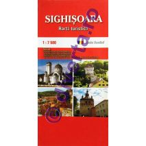 SIGHISOARA, harta pliata turistica si rutiera, scara 1:7500, format 50x70 cm, editie 2013