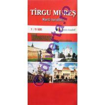 TARGU MURES, harta pliata turistica si rutiera, scara 1:11500, format 50x70 cm, editie 2019