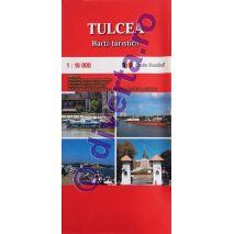 TULCEA, harta pliata turistica si rutiera, scara 1:10000, format 50x70 cm, editie 2019