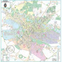 Harti De Perete Pliate Inramate Cu Bucuresti Hărți Bucuresti