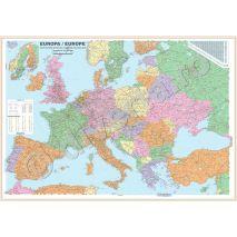 Harti De Perete Pliate Inramate Cu Europa Harta Europei