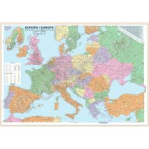 EUROPA, harta de perete politica, scara 1:3500000, format 100 x 140 cm, laminata - plastifiata (incapsulata), baghete