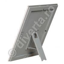 RAMA CLICK / SNAP POSTER A4 25 MM PENTRU TABLOURI, aluminiu eloxat, culoare argintiu (silver) mat, latime profil 25 mm, suprafata 210x297 mm-7 A4