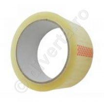 Banda adeziva acrilica pentru ambalare, transparenta, 48 mm x 60 m, 36 microni (EU); latime: 48 mm; lungime: 60 m; grosime: 36 microni; culoare: transparenta