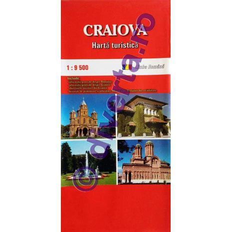 CRAIOVA, harta pliata turistica si rutiera, scara 1:9500, format 50x70 cm, editie 2019