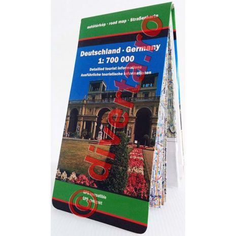 GERMANIA, harta pliata rutiera, administrativa si turistica, scara 1:700000, format 94x129 cm, editie 2013