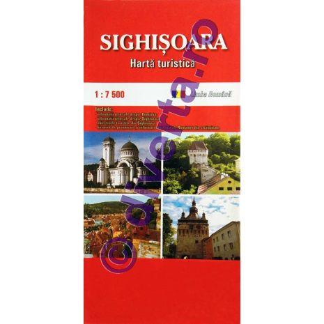 SIGHISOARA, harta pliata turistica si rutiera, scara 1:7500, format 50x70 cm, editie 2019