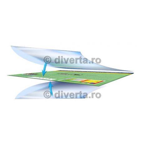 Servicii de PLASTIFIERE (LAMINARE) 90x105 cm (900x1050 mm), fata-verso (incapsulare), folie lucioasa - 2 x 32 microni