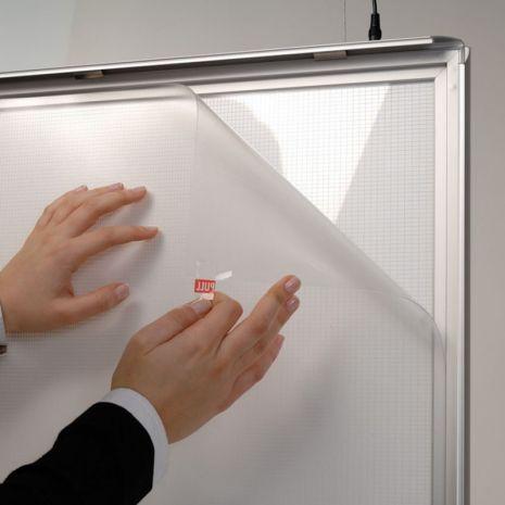 RAMA (CASETA) A1 CLICK ILUMINATA LED 25 MM PENTRU POSTERE, AFISE, TABLOURI, aluminiu eloxat, culoare argintiu (silver) mat, latime profil 25 mm, suprafata 594x841 mm-4
