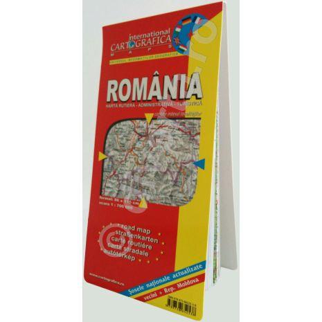 Romania, harta pliata rutiera, administrativa si turistica, scara 1:700000, format 89x120 cm, editie 2013-poza3