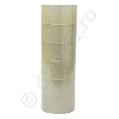 Banda adeziva acrilica pentru ambalare, transparenta, 48 mm x 60 m, 36 microni (EU) - 6 buc / set; pret pe bucata: 2.80 lei; latime: 48 mm; lungime: 60 m; grosime: 36 microni; culoare: transparenta