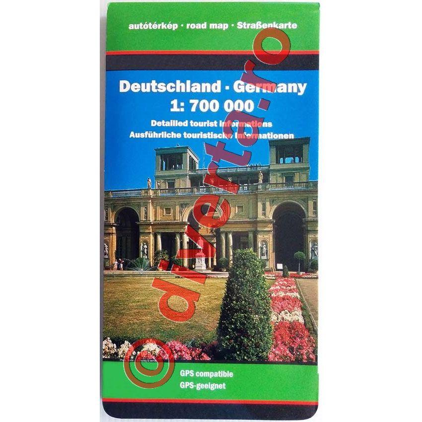 Germania Harta Pliata Rutiera Administrativa Turistica